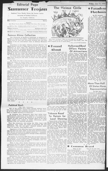Summer Session Trojan, Vol. 14, No. 2, June 21, 1935