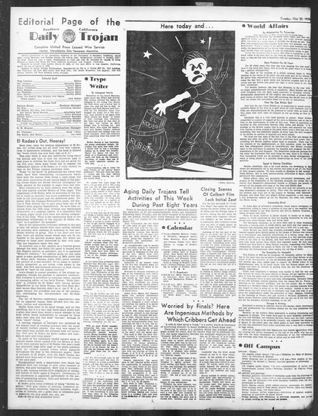 Daily Trojan, Vol. 27, No. 144, May 26, 1936