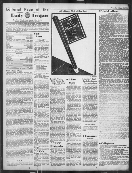 Daily Trojan, Vol. 27, No. 81, February 19, 1936
