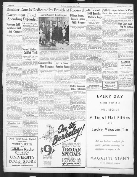 Daily Trojan, Vol. 27, No. 8, October 01, 1935