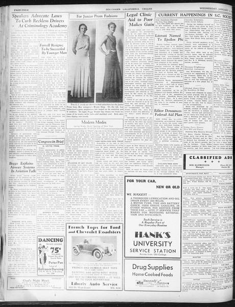Daily Trojan, Vol. 23, No. 73, January 13, 1932