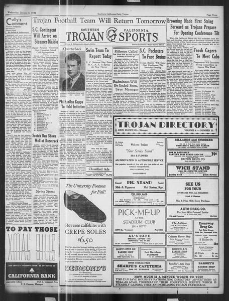 Daily Trojan, Vol. 27, No. 60, January 08, 1936