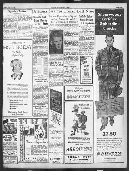 Daily Trojan, Vol. 27, No. 132, May 08, 1936
