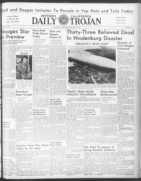 Daily Trojan, Vol. 28, No. 132, May 07, 1937