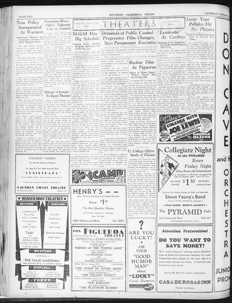 Daily Trojan, Vol. 23, No. 69, January 07, 1932