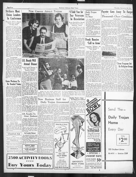Daily Trojan, Vol. 27, No. 5, September 26, 1935