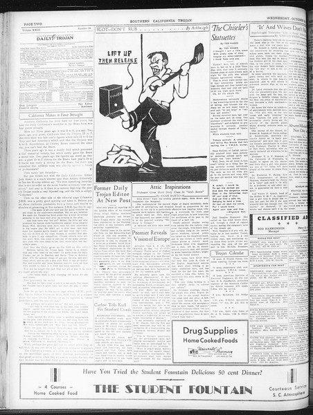 Daily Trojan, Vol. 23, No. 34, October 28, 1931