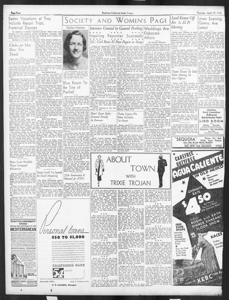 Daily Trojan, Vol. 26, No. 120, April 18, 1935