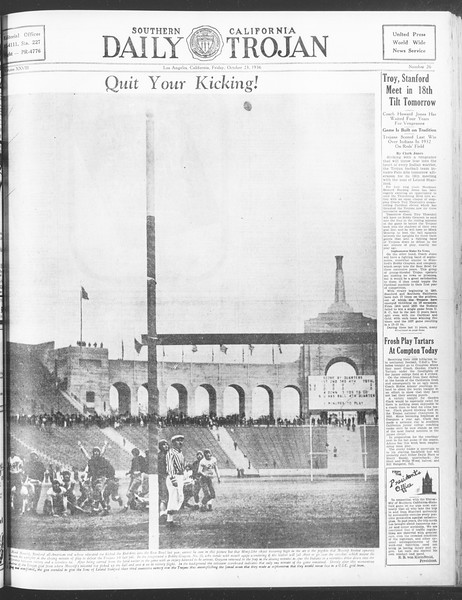 Daily Trojan, Vol. 28, No. 26, October 23, 1936