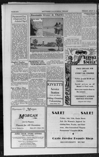 Southern California Trojan, Vol. 9, No. 4, July 11, 1930