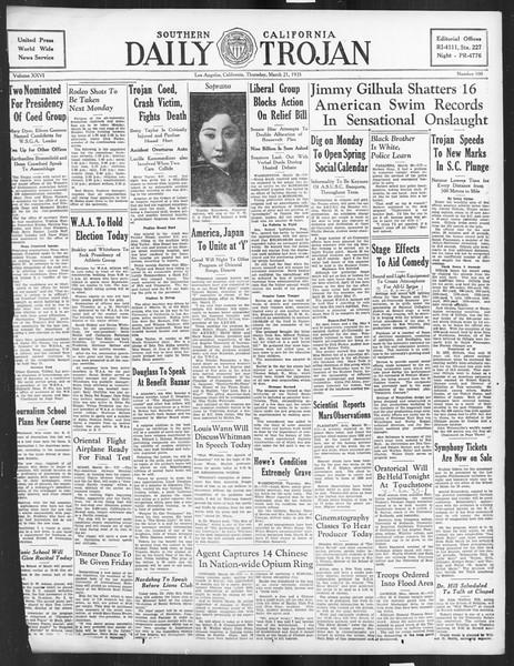 Daily Trojan, Vol. 26, No. 100, March 21, 1935