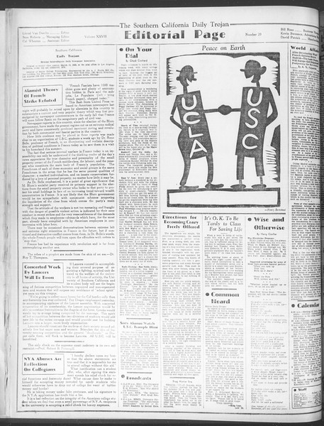 Daily Trojan, Vol. 28, No. 20, October 15, 1936