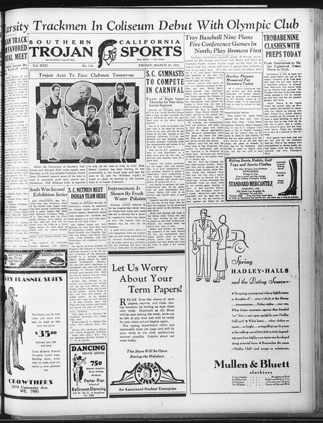 Daily Trojan, Vol. 22, No. 116, March 27, 1931