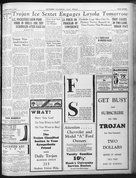 Daily Trojan, Vol. 23, No. 82, February 05, 1932