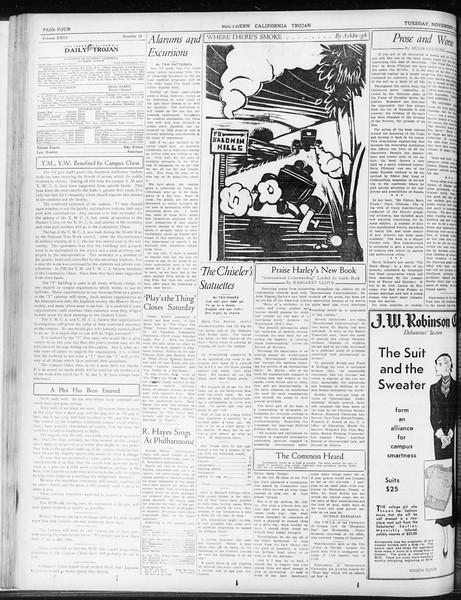 Daily Trojan, Vol. 23, No. 38, November 03, 1931