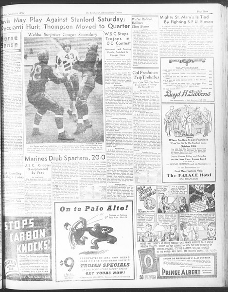 Daily Trojan, Vol. 28, No. 22, October 19, 1936