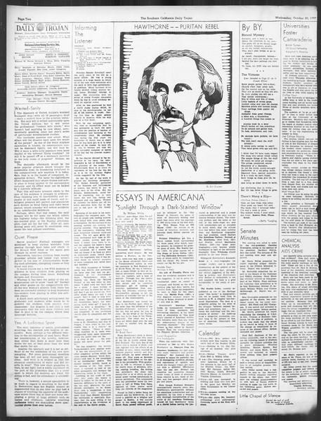 Daily Trojan, Vol. 29, No. 24, October 20, 1937