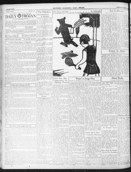 Daily Trojan, Vol. 23, No. 141, May 09, 1932