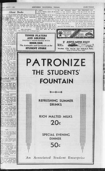Southern California Trojan, Vol. 10, No. 5, July 07, 1931