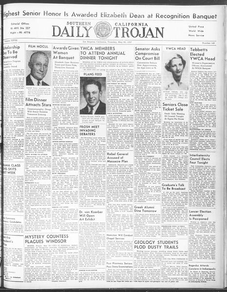 Daily Trojan, Vol. 28, No. 140, May 20, 1937