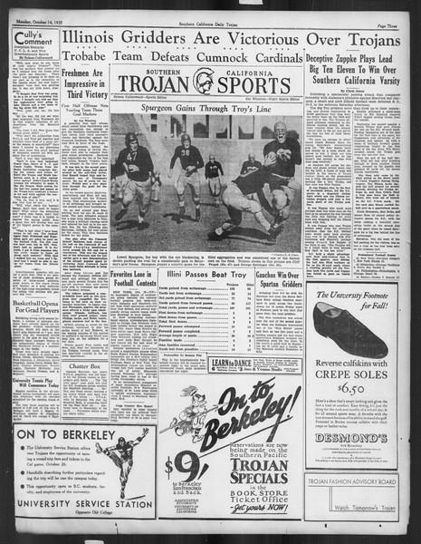 Daily Trojan, Vol. 27, No. 17, October 14, 1935