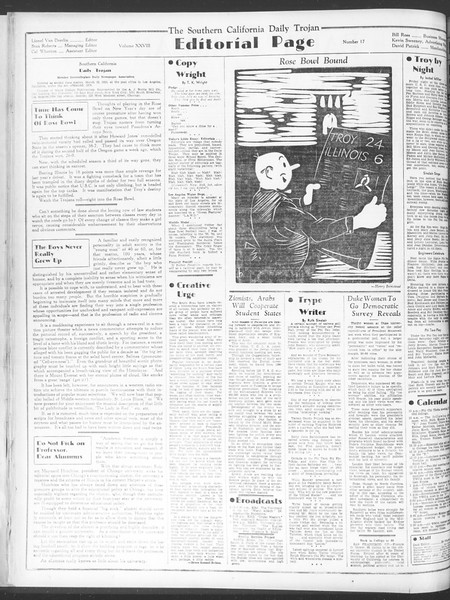 Daily Trojan, Vol. 28, No. 17, October 12, 1936