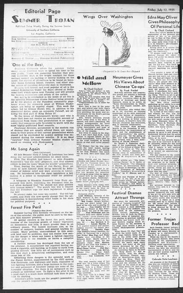 Summer Session Trojan, Vol. 14, No. 8, July 12, 1935