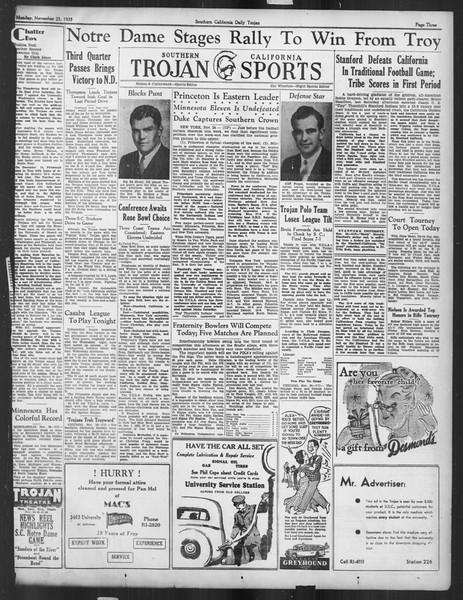 Daily Trojan, Vol. 27, No. 45, November 25, 1935