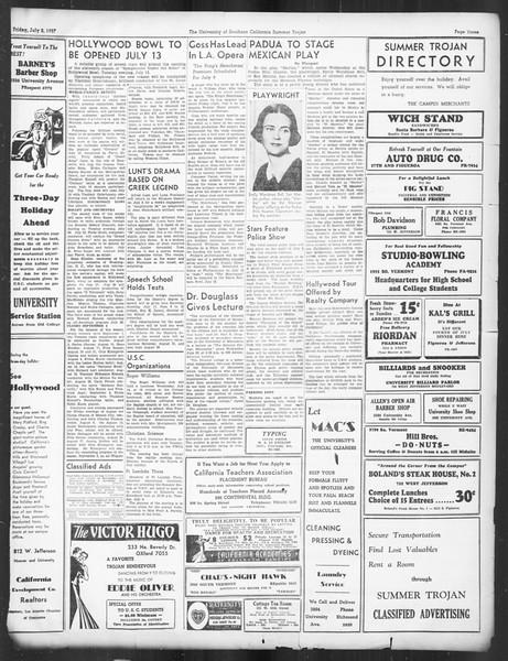 Summer Trojan, Vol. 16, No. 4, July 02, 1937