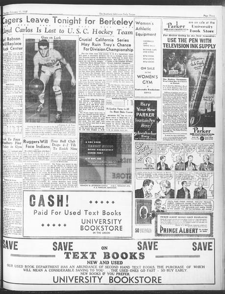 Daily Trojan, Vol. 28, No. 77, February 11, 1937