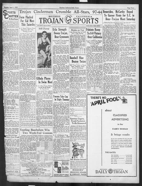 Daily Trojan, Vol. 26, No. 107, April 01, 1935