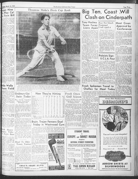 Daily Trojan, Vol. 28, No. 99, March 16, 1937