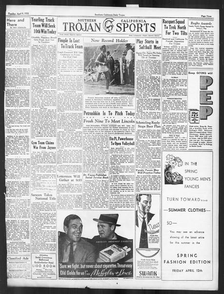 Daily Trojan, Vol. 26, No. 113, April 09, 1935