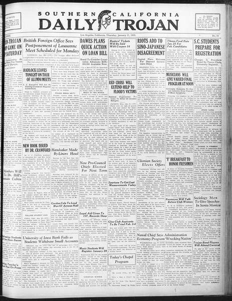 Daily Trojan, Vol. 23, No. 79, January 21, 1932