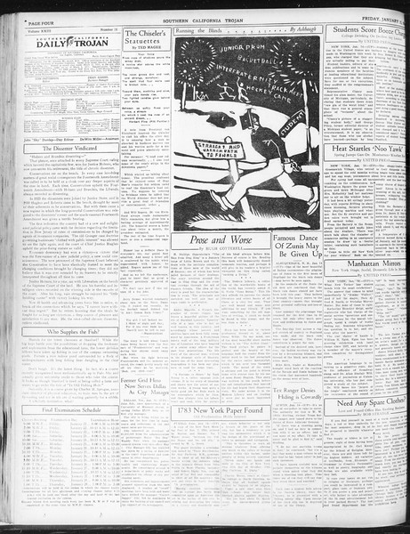 Daily Trojan, Vol. 23, No. 75, January 15, 1932