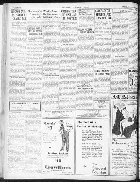 Daily Trojan, Vol. 23, No. 32, October 26, 1931
