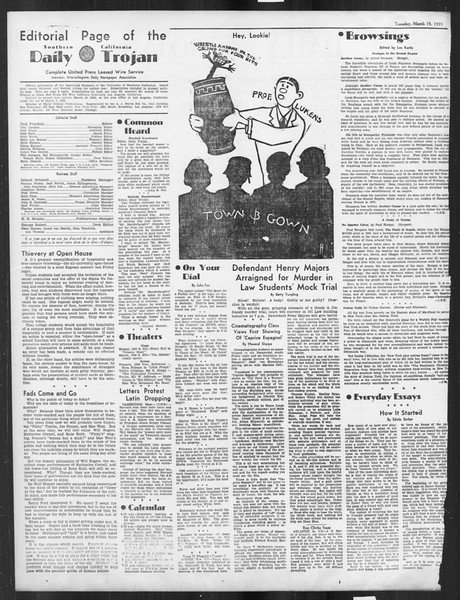 Daily Trojan, Vol. 26, No. 98, March 19, 1935