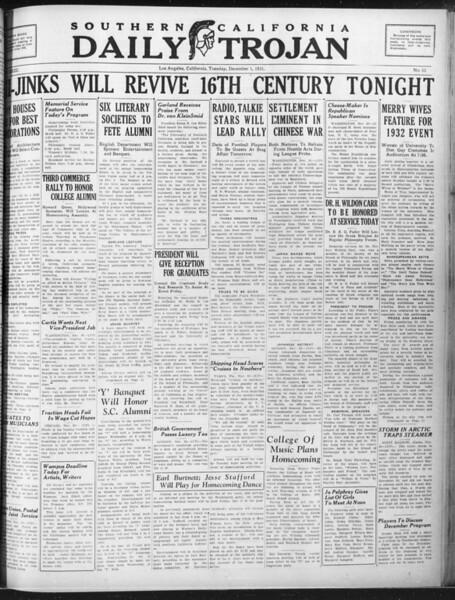 Daily Trojan, Vol. 23, No. 54, December 01, 1931