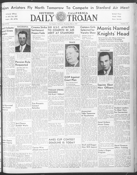 Daily Trojan, Vol. 28, No. 131, May 06, 1937