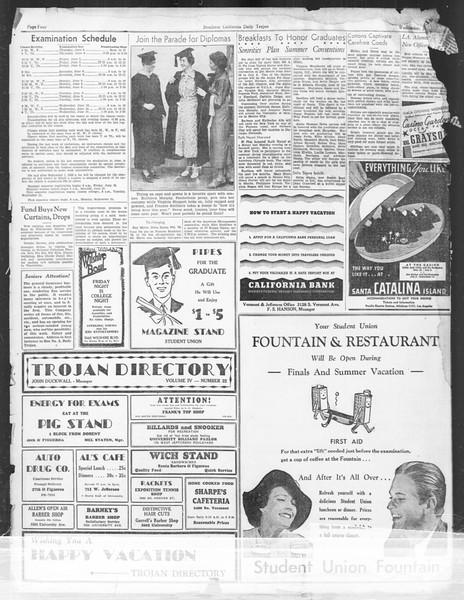 Daily Trojan, Vol. 27, No. 149, June 03, 1936