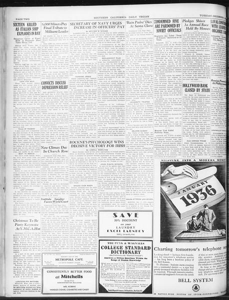 Daily Trojan, Vol. 22, No. 59, December 09, 1930