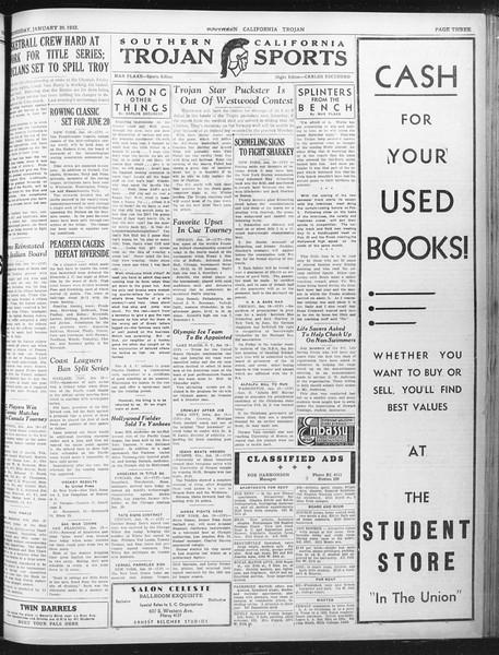 Daily Trojan, Vol. 23, No. 78, January 20, 1932