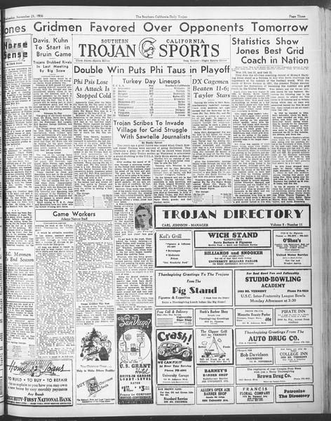 Daily Trojan, Vol. 28, No. 47, November 25, 1936