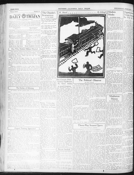 Daily Trojan, Vol. 23, No. 90, February 17, 1932