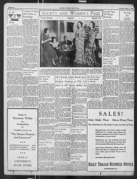 Daily Trojan, Vol. 27, No. 92, March 05, 1936