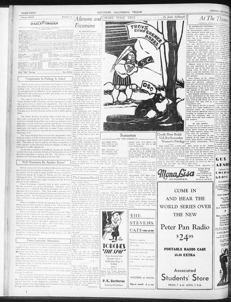 Daily Trojan, Vol. 23, No. 16, October 02, 1931