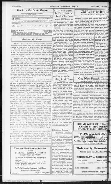Southern California Trojan, Vol. 10, No. 15, August 11, 1931
