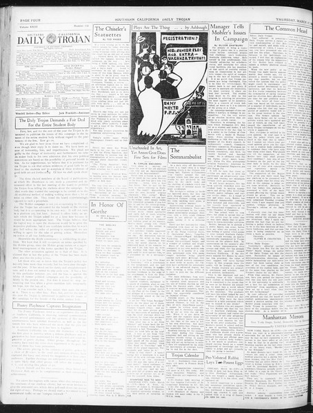 Daily Trojan, Vol. 23, No. 110, March 17, 1932