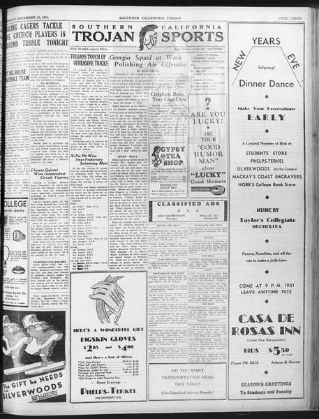 Daily Trojan, Vol. 23, No. 61, December 10, 1931