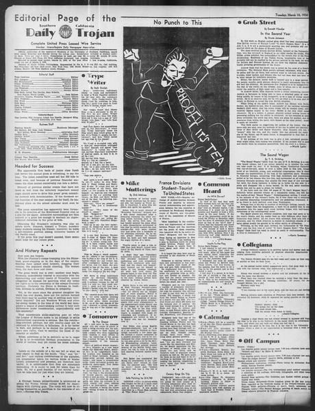 Daily Trojan, Vol. 27, No. 95, March 10, 1936